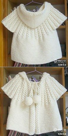 DIY & crafts projects, contents and more - Post Labhousehold Com 180003316346077803 P Crochet Dress Girl, Crochet Coat, Crochet Baby, Baby Sweater Knitting Pattern, Baby Knitting Patterns, Baby Pullover, Baby Cardigan, Baby Ruffle Romper, Diy Crafts Knitting