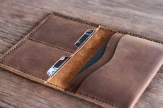 PERSONALIZED WALLET Leather Passport Wallet Mens by JooJoobs