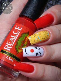 #nails #nail #fashion #style #palhaço #cute #beauty #beautiful #clown #pretty #girl #girls #stylish #sparkles #styles #gliter #nailart #art #opi #circo #essie #unhas #preto #branco #rosa #love #shiny #polish #nailpolish #circus