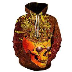 Golden Mind Blown Skull