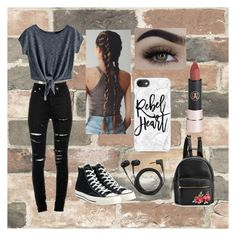 """""""Wednesday ootd"""" by camaro1992 on Polyvore featuring Wall Pops!, Yves Saint Laurent, Converse, Sennheiser and Casetify"""