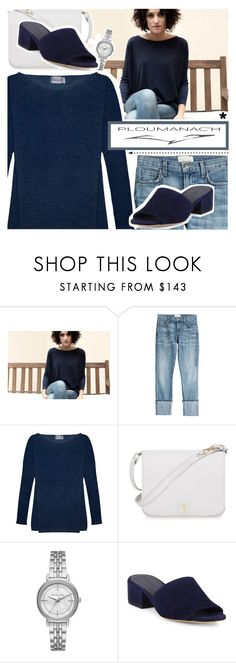 """""""Ploumanac'h"""" by pastelneon ❤ liked on Polyvore featuring Current/Elliott, Furla, Michael Kors, Vince, navy, Luxe and CasualChic"""