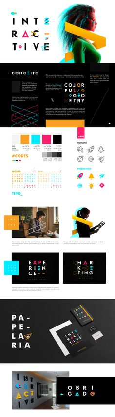 This is by far one of the coolest style guides I've seen. Love the vibrant colors, angles, and bold images.