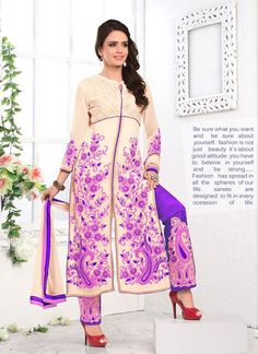 Desirable Resham Work Georgette Designer Salwar Kameez