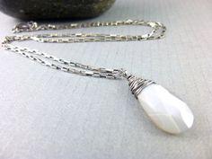 Gray Moonstone Necklace Moonstone Pendant by EarthEnergyGemstones