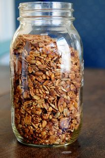 Toasty maple granola recipe by Jacquie!