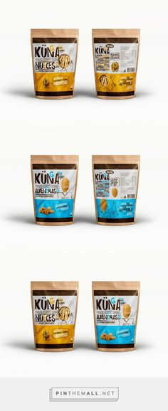 Snacks Kunga Snack (nuts) designed by Martin Merino. Pin curated by Yo Chip Packaging, Organic Packaging, Dessert Packaging, Packaging Stickers, Food Packaging Design, Beverage Packaging, Packaging Design Inspiration, Brand Packaging, Snack Brands