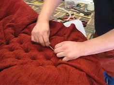 How To Deep Button an Antique Victorian Chair @ www.gilboys.co.uk