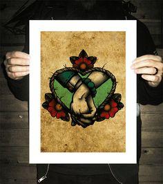 Per sempre dopo Holding mani Neo-Traditional Tattoo di BlackMast