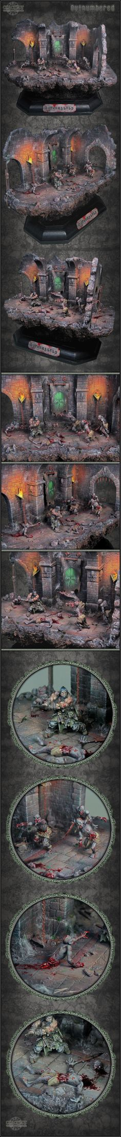 CoolMiniOrNot - Outnumbered - Wicked Cthulu-Zombie Diorama by Crackpot