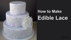 Edible Lace Edible Lace, Sweetarts, Cake Decorating, Perfume Bottles, Cookie, Tutorials, Make It Yourself, Easy, Youtube