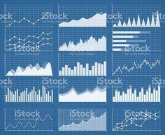 Business-Grafiken und Diagrammen Satz. Analyse und Verwaltung Lizenzfreies vektor illustration