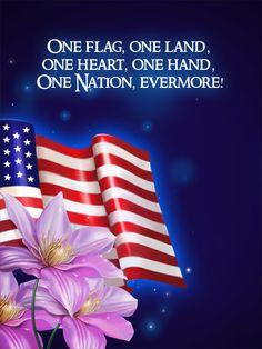 One flag - One Land! Happy Flag Day!  bdaycards.com
