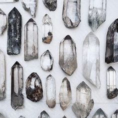 beautiful collection of stones and crystals