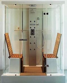 bathrooms with steam bath ideas | Steam Shower Trend - must have showers for a luxury bathroom