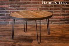 Round Table - 30 inch table - Reclaimed Wood table top with hairpin legs - reclaimed round table - reclaimed wood by on Etsy Round Wooden Coffee Table, Coffee Table Images, Round Tables, Coffee Tables, Concrete Table Top, Wood Table, Industrial Table Legs, Reclaimed Wood Paneling, Paint Furniture