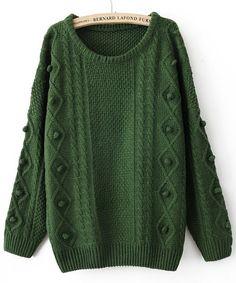 Jersey  retro de punto-verde