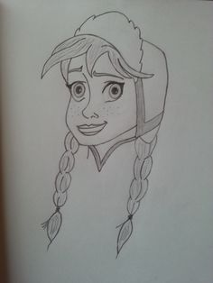 I love drawing Frozen characters, here is a sketch I have just completed of Princess Anna. Frozen Characters, Princess Anna, Love Drawings, Sketch, Spaces, My Love, Creative, Inspiration, Design