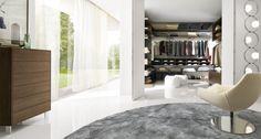modernes Design eines begehbaren Kleiderschranks