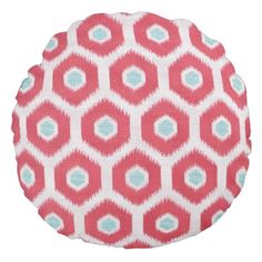 Abstract Floral Pattern Round Pillow - home gifts ideas decor special unique custom individual customized individualized