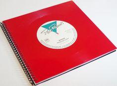 Gästebücher - Gästebuch mit Schallplatte red Vinyl - ein Designerstück von Aurum bei DaWanda