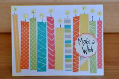 Make a Wish card using the Dotty for You special paper from CTMH