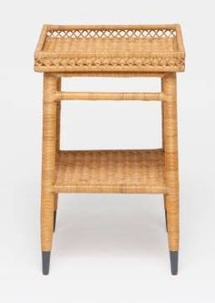 Layla Small Rattan Side Table with Intricate Natural Rattan Patterns Also Available As