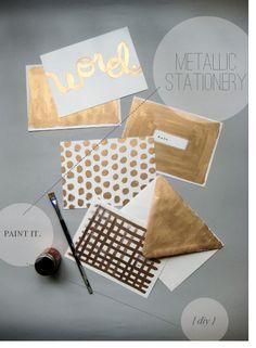 DIY metallic stationery