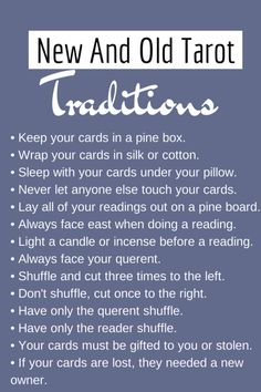 Tarot Tips http://arcanemysteries.tumblr.com/ New And Old Tarot Traditions.
