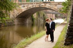 engagement session georgetown bridge 550x366 Lauren + JPs Georgetown Engagement Session on the Canal
