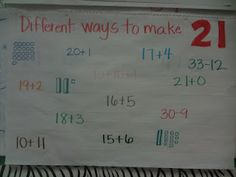 Different ways to make 21