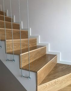 Pin on Stairs Staircase Railing Design, Home Stairs Design, Interior Stairs, Door Design, Home Interior Design, House Design, Railing Ideas, Stairs Skirting, Escalier Design