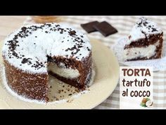 TORTA TARTUFO AL COCCO CON CUORE A SORPRESA | Fatto in casa da Benedetta