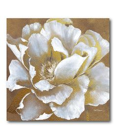 This Golden Flower I Wrapped Canvas by Courtside Market is perfect! #zulilyfinds