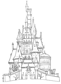 how to draw princess castle