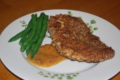 The Kitchen Canister: Georgia on my Mind: Pecan Crusted Chicken with Spicy Peach Sauce Pecan Crusted Chicken, Peach Sauce, Georgia On My Mind, Kitchen Canisters, Main Dishes, Steak, Spicy, Peaches, Cooking