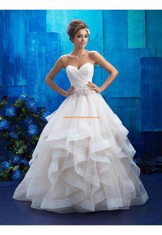Robe de mariée organza sans manches dos nu col en coeur princesse belle