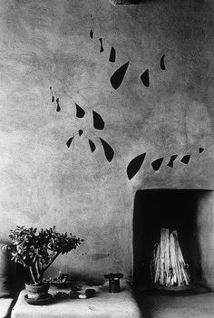G. O'Keeffe's home, Abiquiu, with Calder Mobile