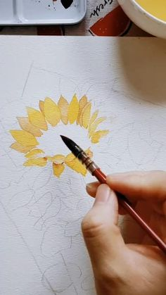 Tree Watercolor Painting, Watercolor Paintings For Beginners, Watercolor Drawing, Watercolor Illustration, Watercolor Flowers Tutorial, Art Drawings For Kids, Flower Art, Coir, Crafts