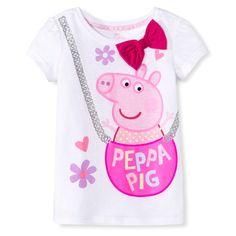 Peppa Pig Toddler Girls' Tee - White