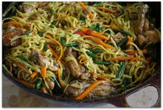 Guyanese-style Homemade Chicken Chowmein