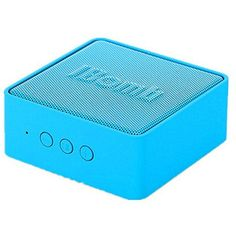 iBomb(TM) EX500 Cube High Quality Super Woofer Wireless Portable Bluetooth 3.0 Speaker with 3.5mm AUX Input, Microphone, Rechargeable Super Bass Fashion Mini Speaker (Blue) * Want additional info? Click on the image. (This is an affiliate link) #PortableBluetoothSpeakers