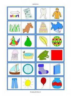 Dit werkblad en nog veel meer in de categorie taal - rijmspelletjes kun je downloaden op de website van Juf Milou. Busy Boxes, Homeschool, Kids Rugs, Letters, Pdf, Google, Image, Corona, Kunst