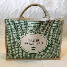 HP 4/15 CHANEL PARIS SALZBURG TOTE. CHANEL PARIS SALZBURG TOTE. Burlap/cloth. Large tote. Never used. This is from the Chanel Paris Salzburg show during fashion week 2015 in NYC. CHANEL Bags Totes