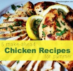 Easy make ahead chicken recipes! Chicken freezes exceptionally well, and the extra marinating time in the freezer and as the meat thaws allows for the marinade to soak in and be extra flavorful.