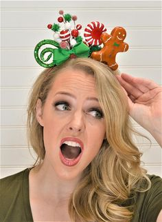 ***LIMITED QUANTITIES*** When they are gone, they are gone! We love dressing festive throughout the holiday season, but there never seems to be anything unique. These adorable Tacky Christmas Accessories are the perfect solution. These adorable Christmas headbands are completely Diy Christmas Hats, Christmas Headbands, Holiday Hair Bows, Whoville Christmas, Tacky Christmas, Christmas Hair, Homemade Christmas, All Things Christmas, Holiday Crafts
