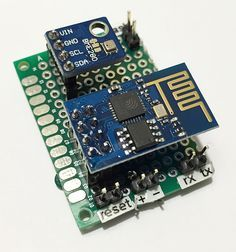Esp8266 and bme280 board top view