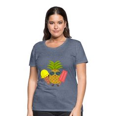 Geschenke Shop | Ananas - Frauen Premium T-Shirt Tee Tassen, T Shirts For Women, Tops, Fashion, Pineapple, Funny Presents, Funny Women, Funny T Shirts, Women's T Shirts