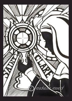 Saint Clare Silhouette by ~natamon on deviantART