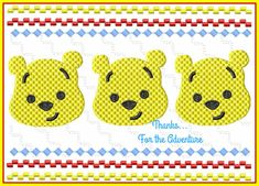Winnie the Pooh Bear Faux Smocking Digital Embroidery Machine Design File 4x4 5x7 6x10 by Thanks4TheAdventure on Etsy